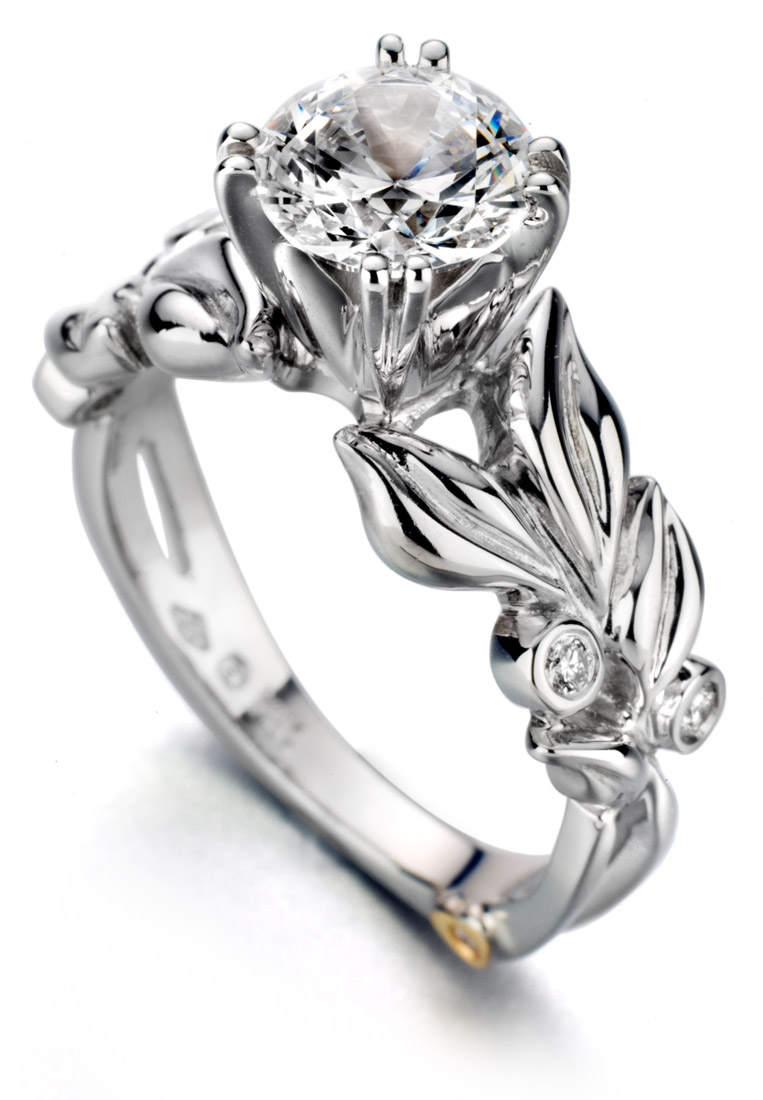 Mark Schneider Flora engagement ring floral design