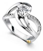 Mark Schneider Kismet modern engagement ring