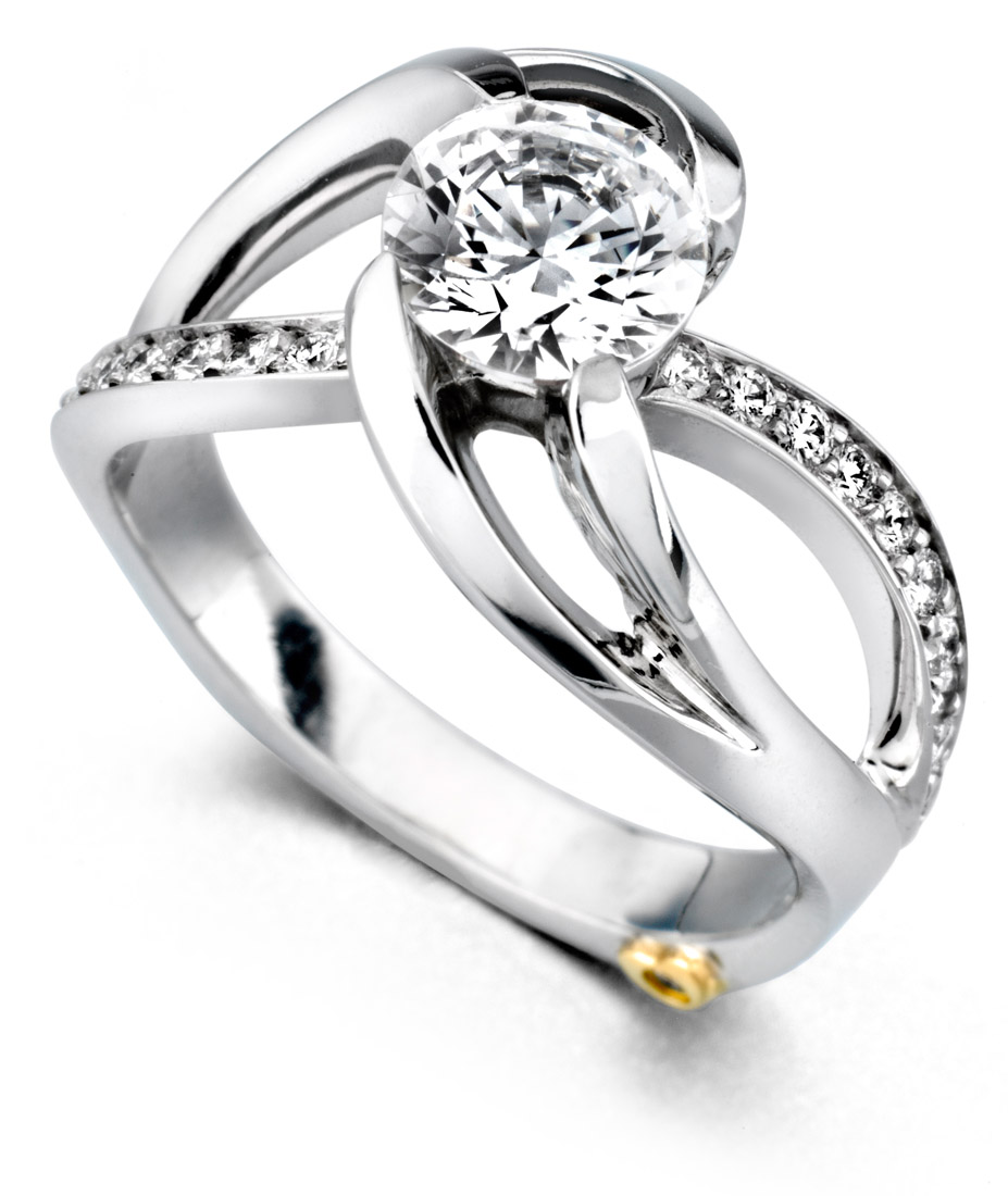 mark schneider kismet contemporary engagement ring - Contemporary Wedding Rings