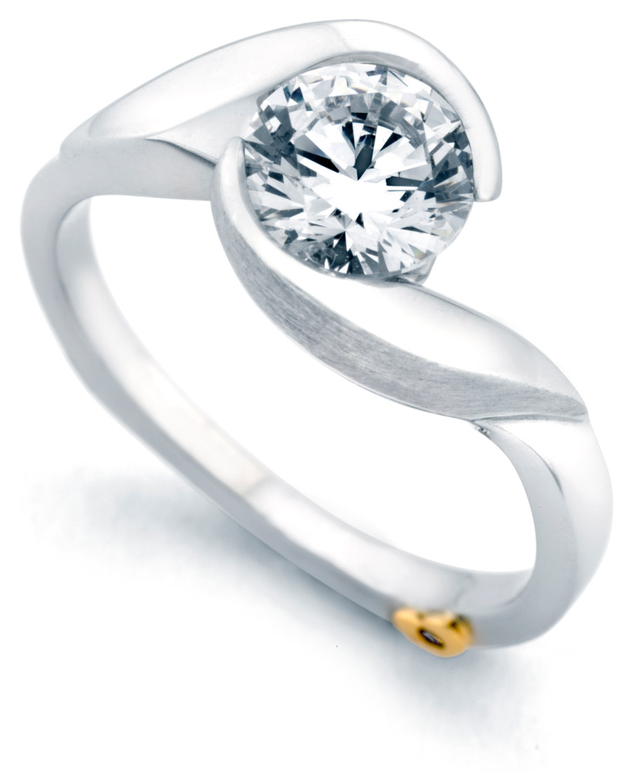 Mark Schneider Lilac engagement ring side view