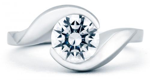 Mark Schneider : Lilac Floral Engagement Ring