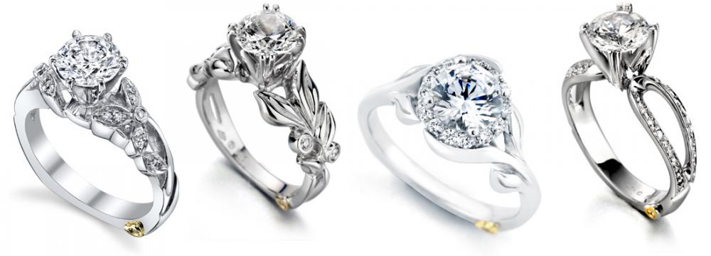Engagement ring designs from Mark Schneider Adore Flora Bloom Amore