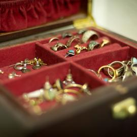 A jewelry chest or box is a great way to organize your jewelry collection