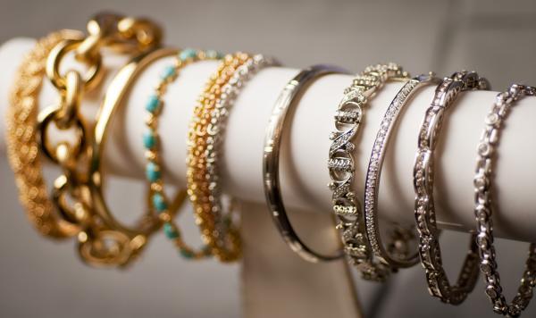 A bracelet display can help keep your jewelry organized