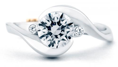 Mark Schneider Spark contemporary engagement ring