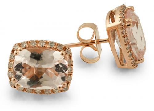 Rose Gold Morganite Earrings