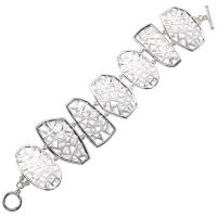 Satin Lattice Geometric Toggle Bracelet
