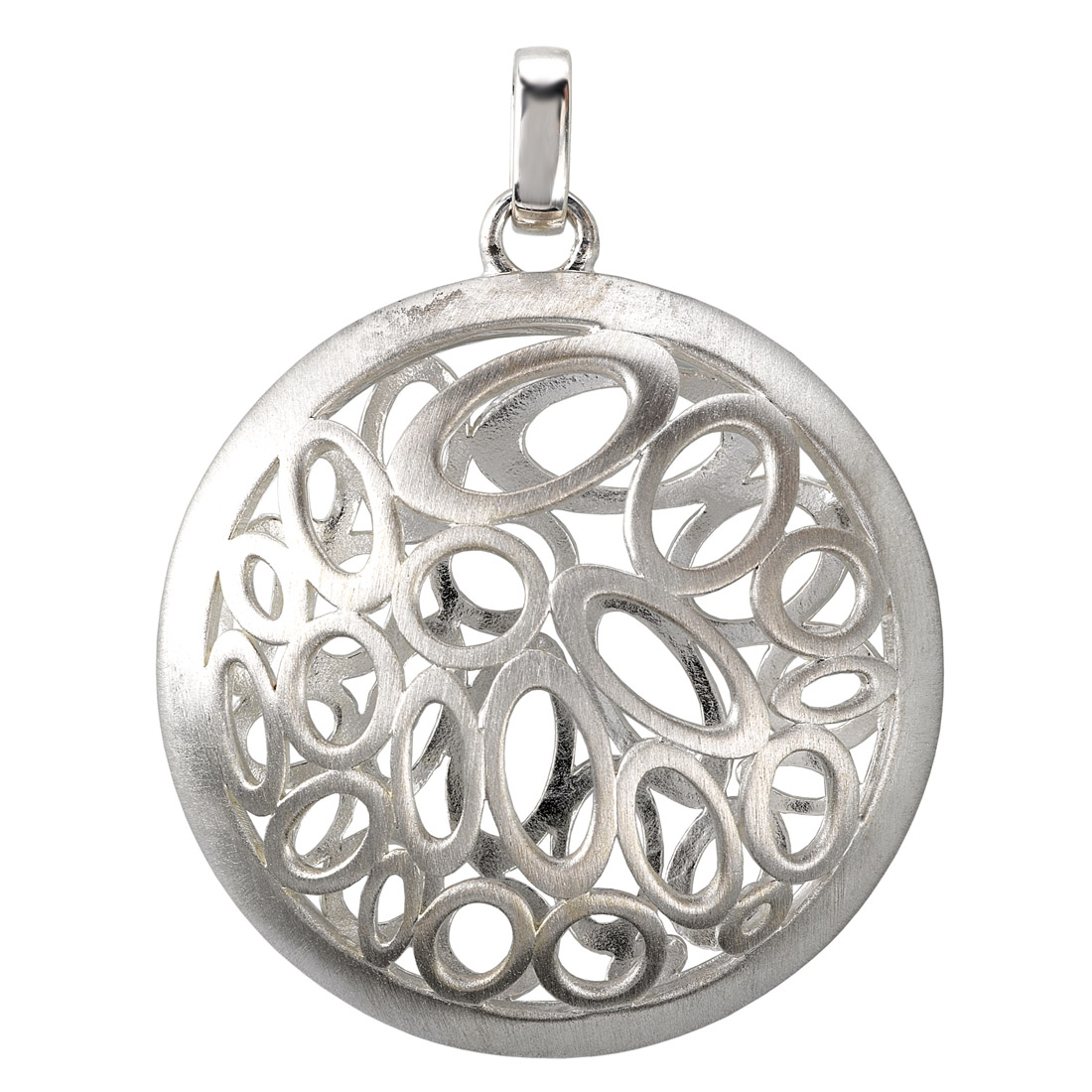 Round Domed Pendant with Oval Cutouts