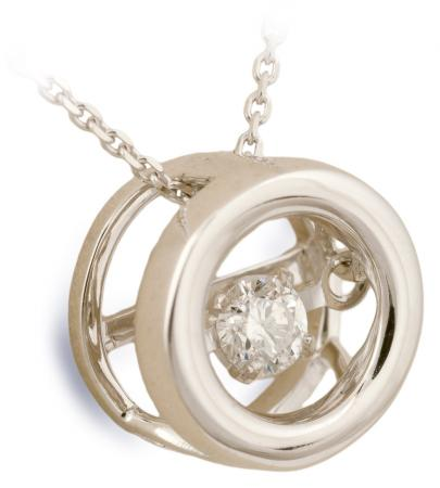 Dancing Diamond Circle Pendant