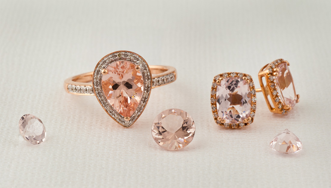 Morganite is a beautiful soft-pink gemstone