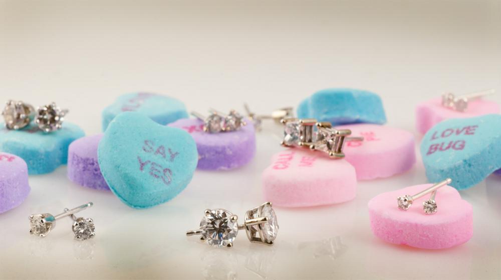 Diamond stud earrings on sale