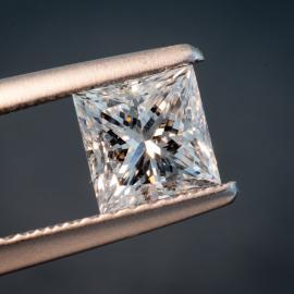 Diamond, Princess Cut, E, VS2, 1.01cts, 9805