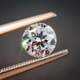 Diamond, Round Brilliant, D, SI1, 0.77cts, 9900