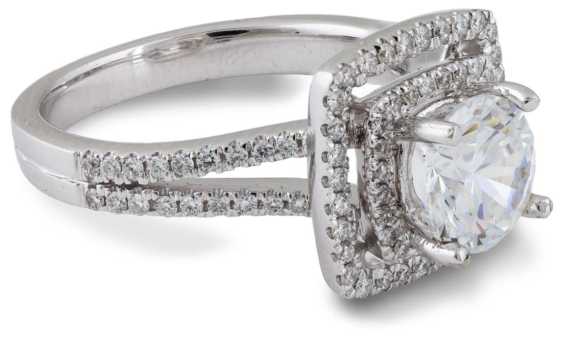 double halo split shank engagement ring 7701 arden. Black Bedroom Furniture Sets. Home Design Ideas