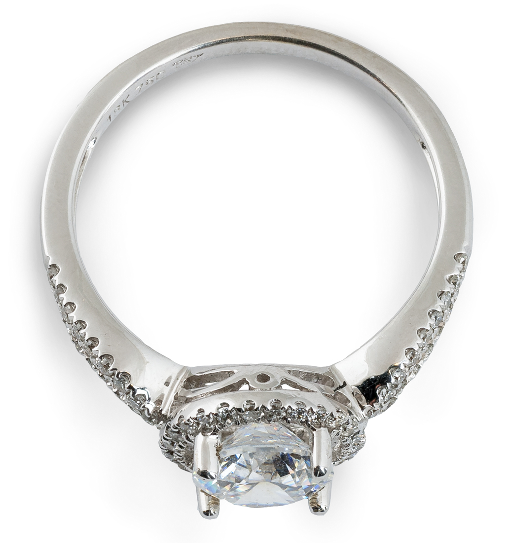 Simple Contemporary Halo Engagement Ring 6744 Arden Jewelers