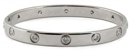 Cartier : LOVE Bracelet 1997 with Diamonds