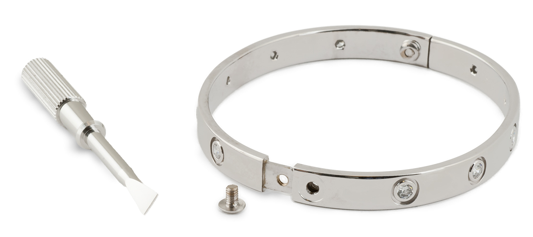 Cartier Love Bracelet 1997 In 18k White Gold Open