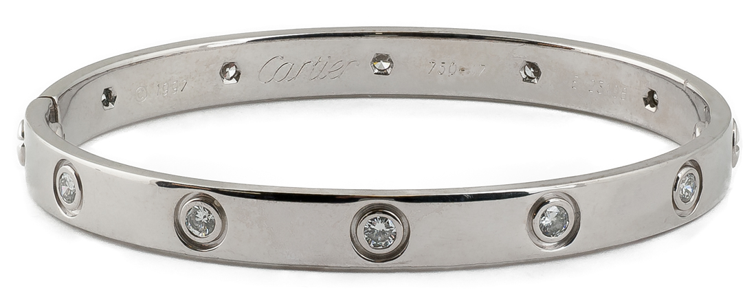 Cartier Love Bracelet 1997 in 18k White Gold