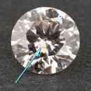 Unique inclusion in a lab grown diamond