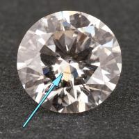 Unique inclusion in a lab grown diamond