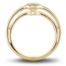 Balance eco friendly lab grown diamond engagement ring - Top