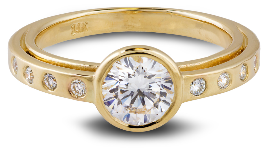 Balance eco friendly lab grown diamond engagement ring - Front