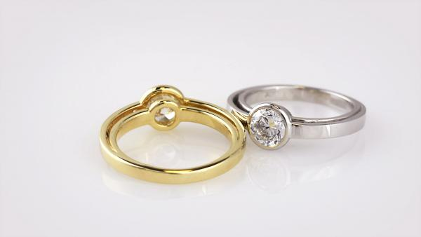 Lab grown diamond balance engagement rings