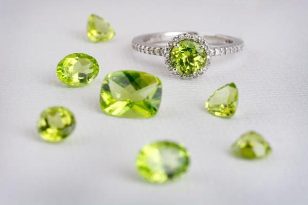 Peridot is a bright yellow-green gemstone