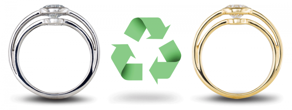 Recycled gold eco-friendly engagement rings