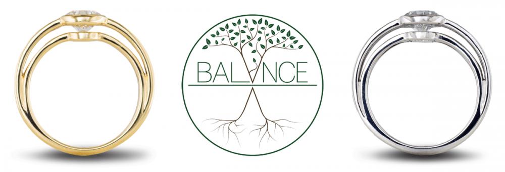 Balance lab grown diamond engagement ring collection