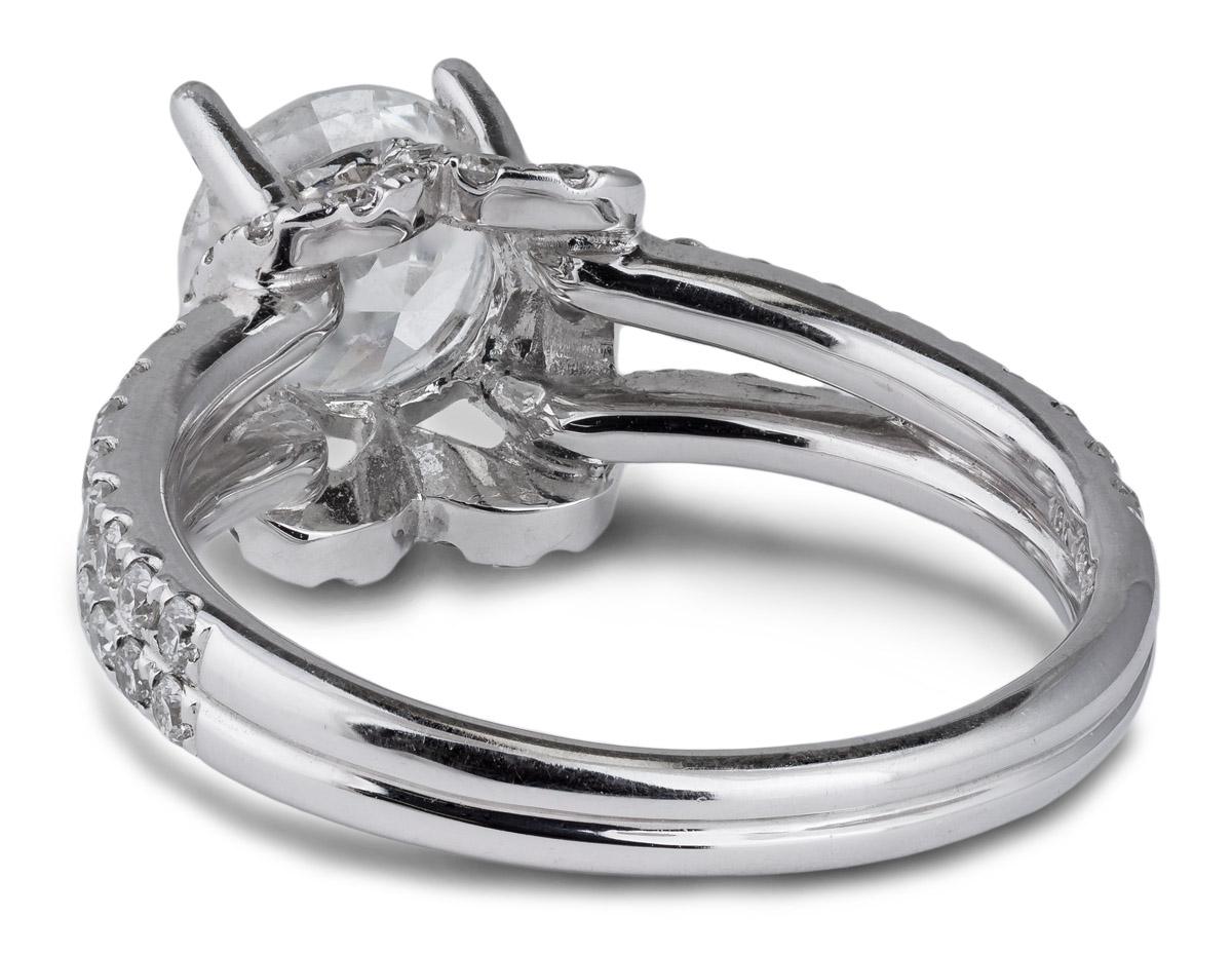 Draped Halo Split Shank Engagement - Back
