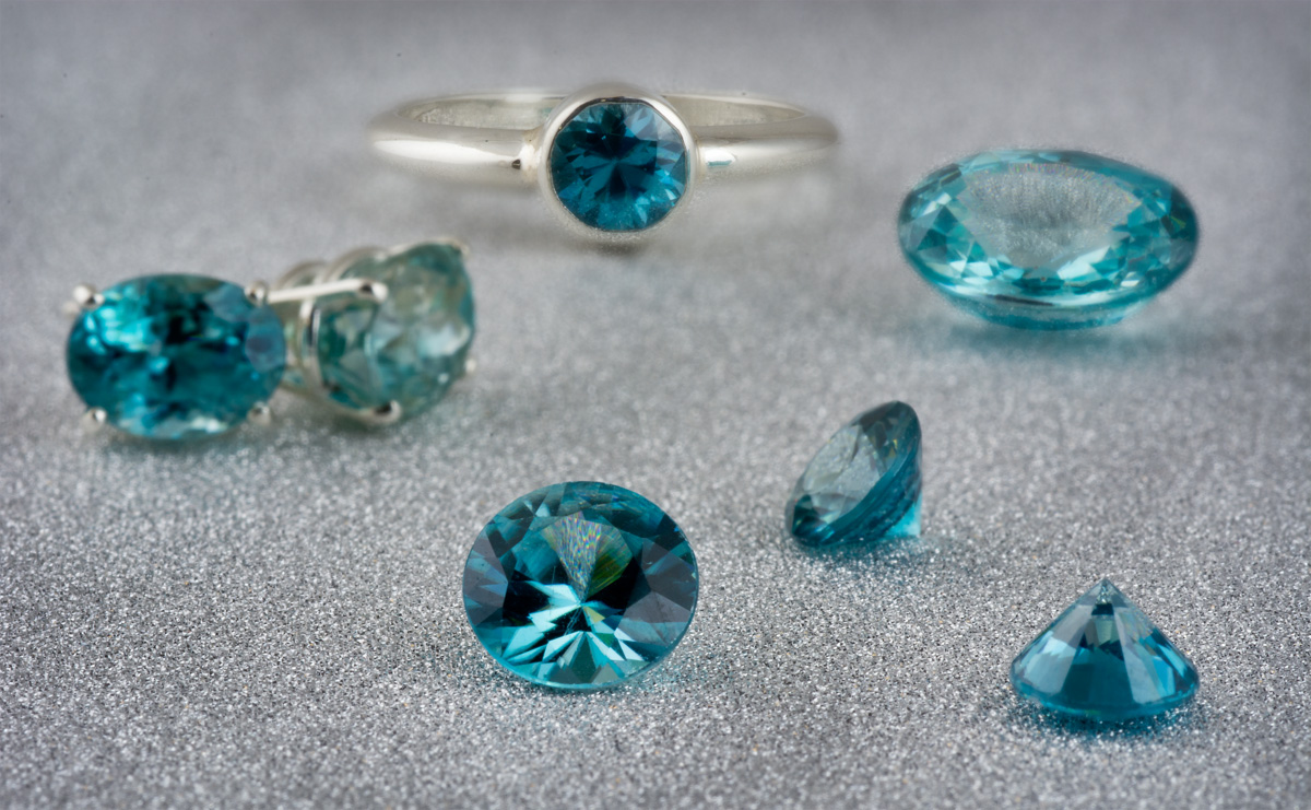 Blue Zircon loose gems and jewelry