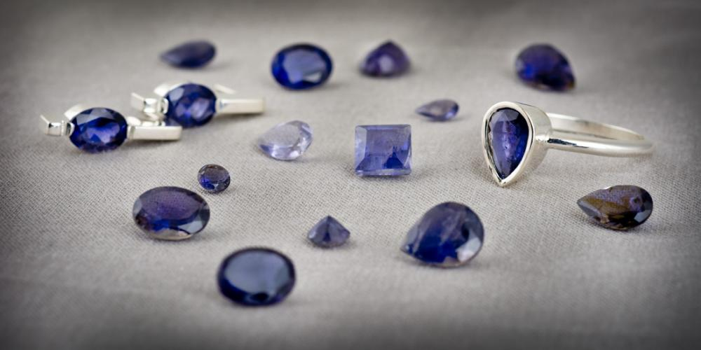 Beautiful iolite jewelry and loose gemstones
