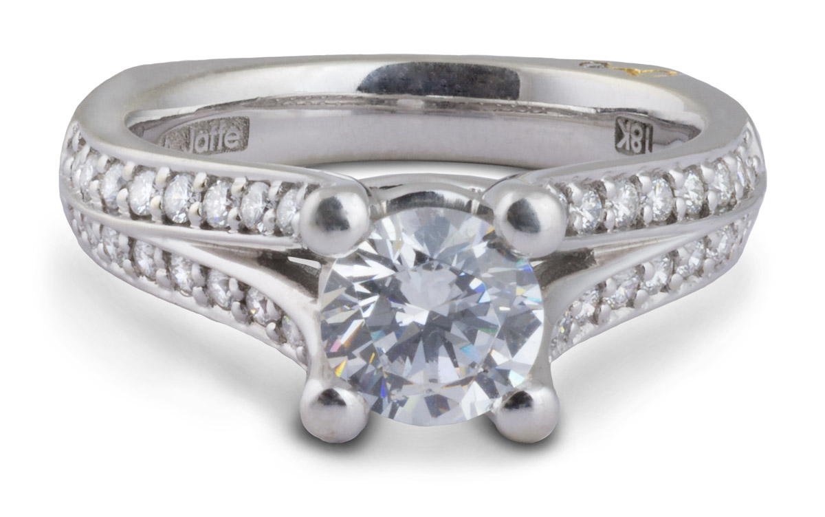 Semi-Mount Split Shank Engagement Ring with Diamonds