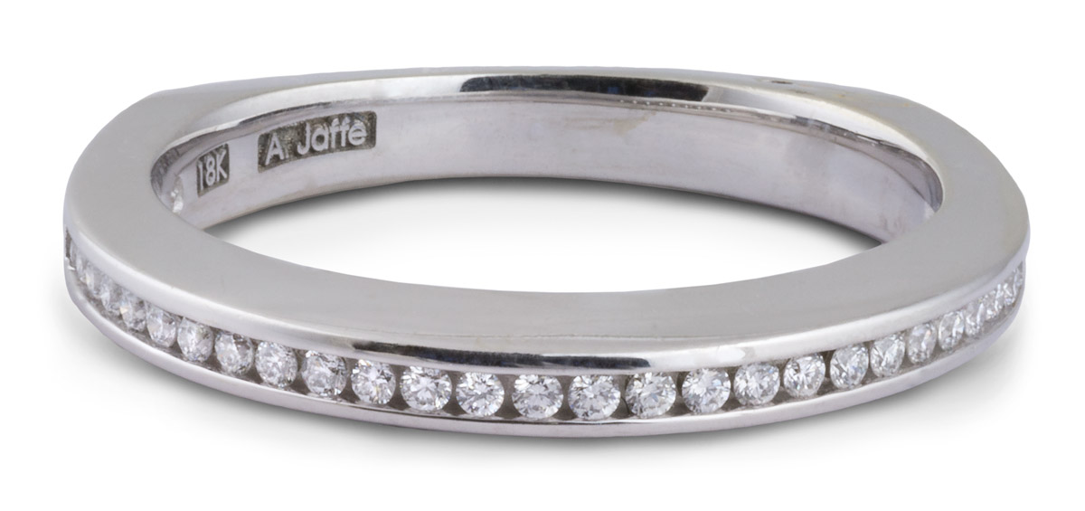 Diamond Channel Wedding Band