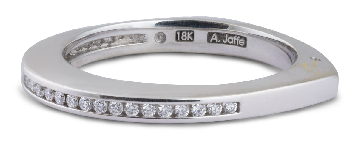 Diamond Channel Wedding Band - Side