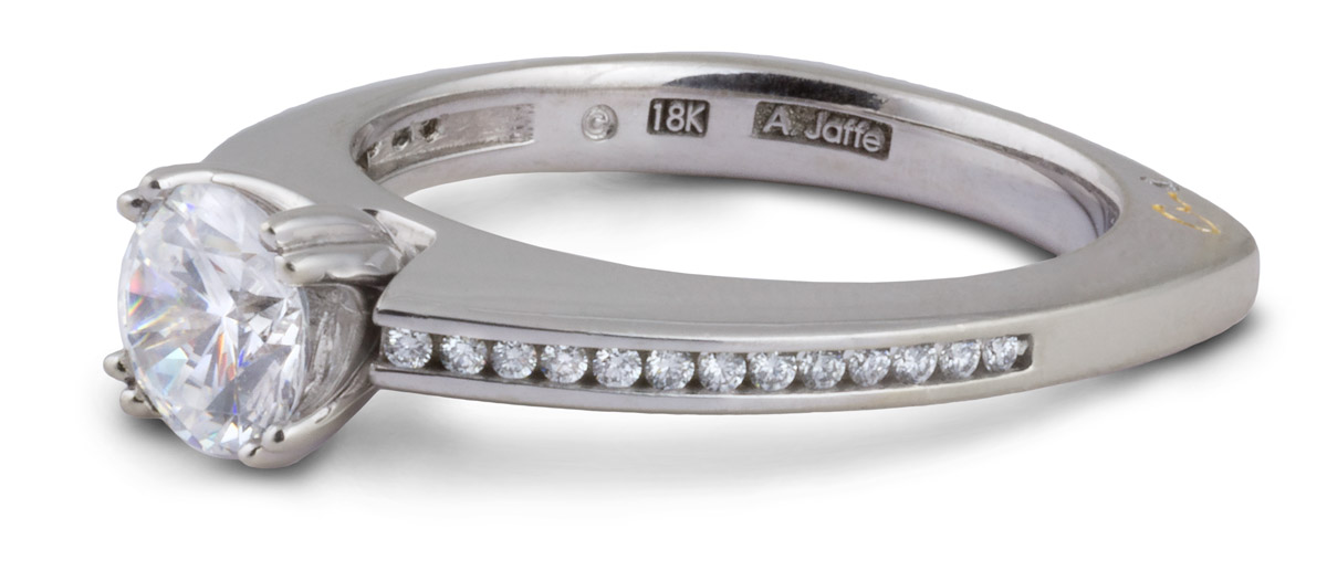 Diamond Channel Semi-Mount Engagement Ring - Side