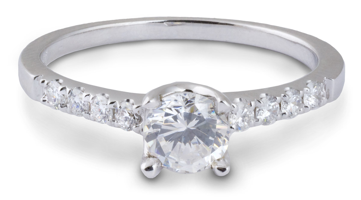 Delicate Simple Engagement Ring With Diamonds 7925 Arden Jewelers