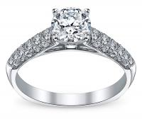 Simon G MR2028 Pave Diamond Engagement Ring