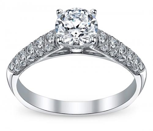 Simon G : Pavé Diamond Engagement Ring