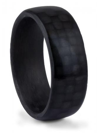 Textured Black Carbon Fiber Band