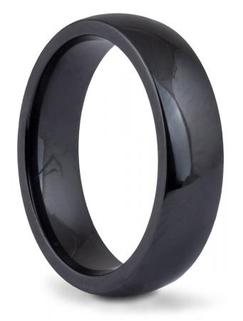 Black Ceramic Comfort Fit Band