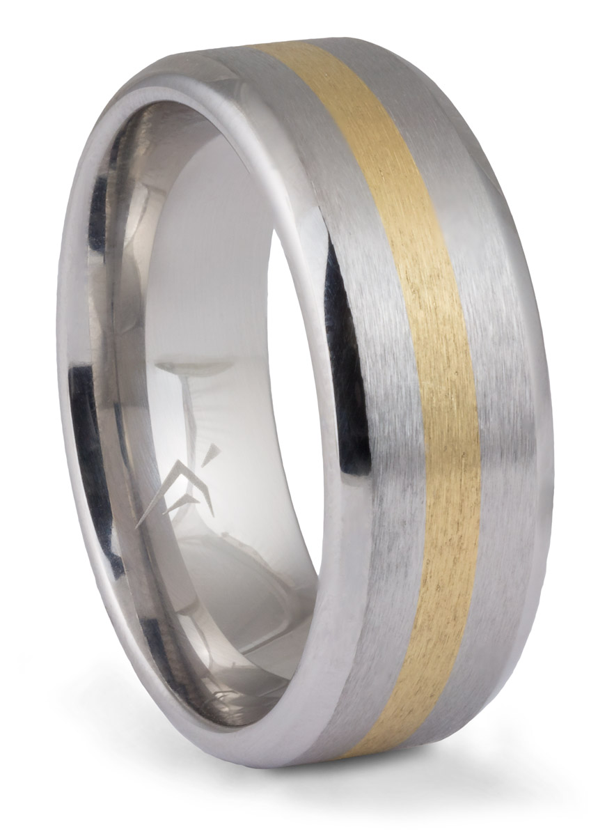 Cobalt Yellow Gold Inlay Band