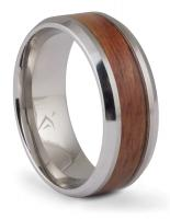 Cobalt Blood Wood Inlay Band