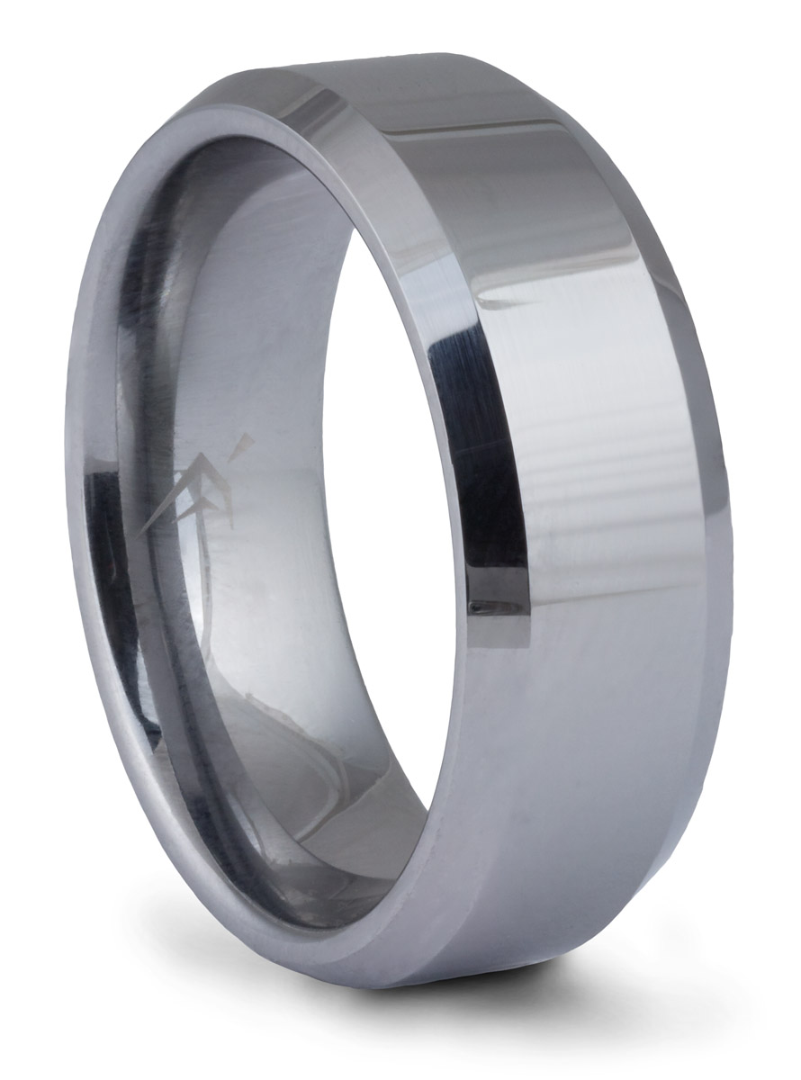 Tungsten Beveled Band