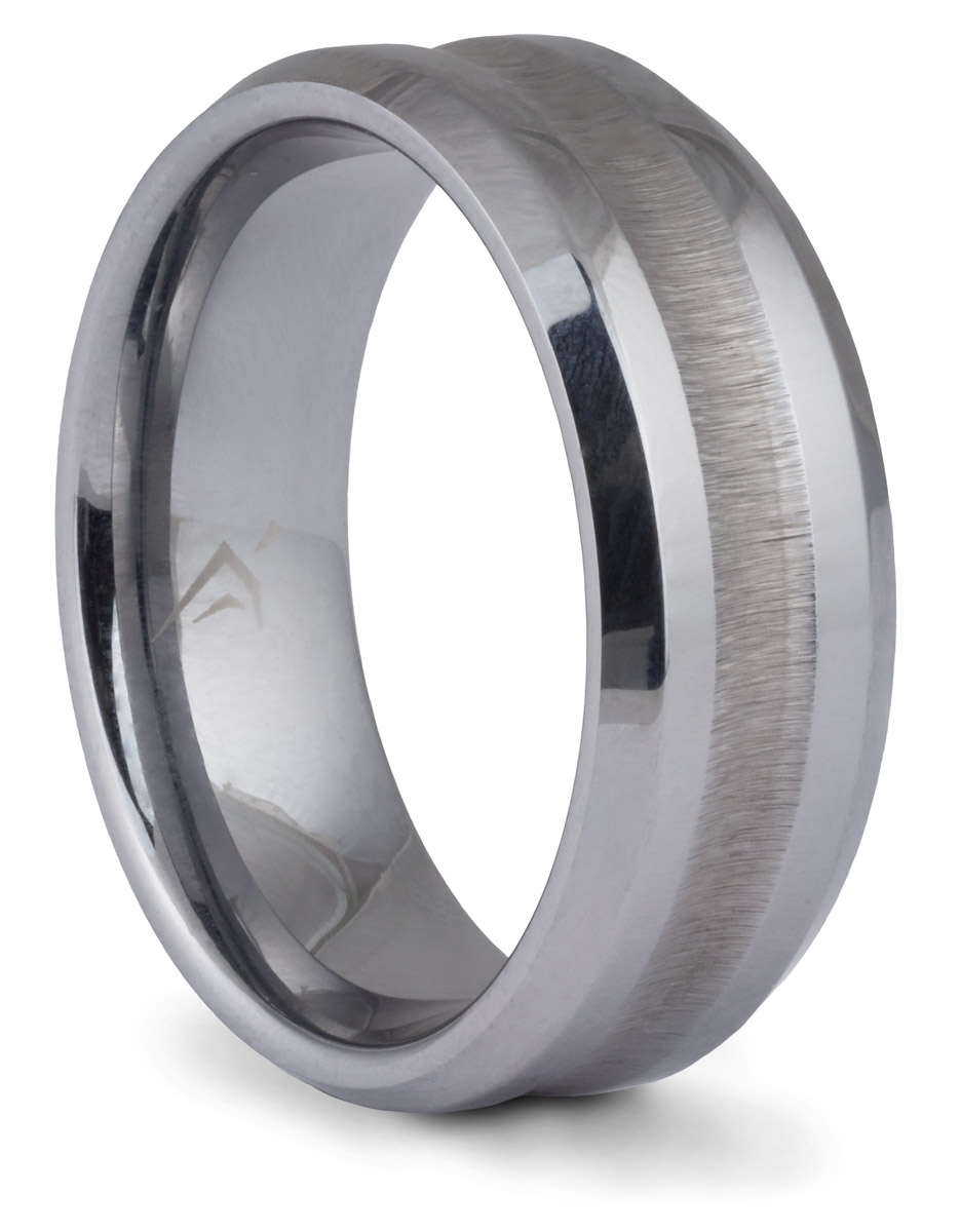 Tungsten Textured Groove Band