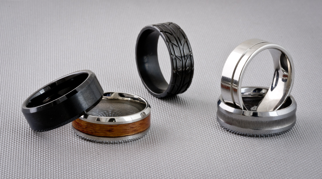Alternative metal wedding band options for men