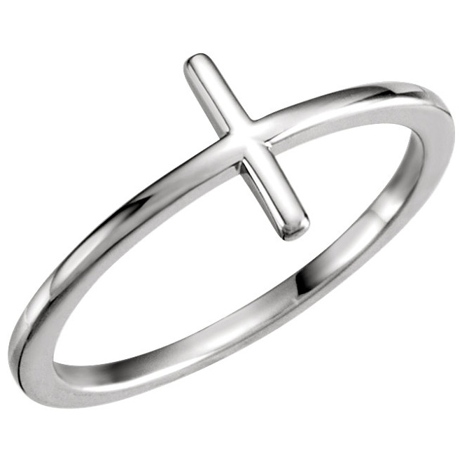 Simple sideways cross ring
