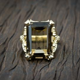 Smoky Quartz Custom Statement Ring