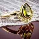 Pallasitic peridot custom ring - other side
